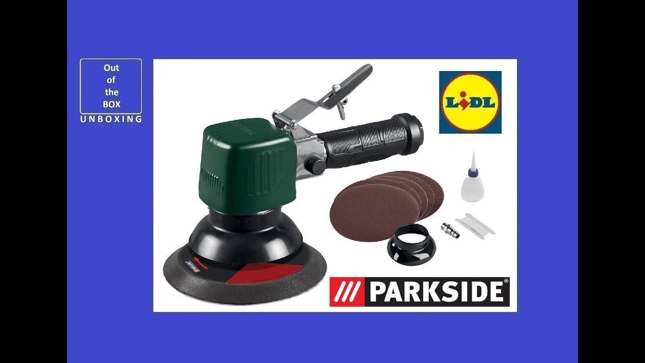 parkside pneumatic orbital sander pdexs 150 c2 unboxing lidl max 10000 rpm max 6 3 bar youtube. Black Bedroom Furniture Sets. Home Design Ideas