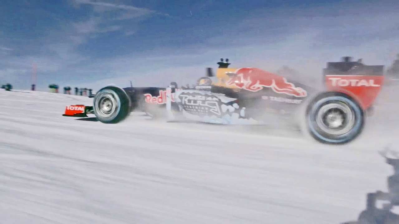 Formula Race Car In The Snow For Fun Youtube