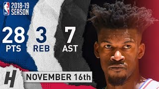 Jimmy Butler Full Highlights 76ers vs Jazz 2018.11.16 - 28 Pts, 7 Ast, 3 Reb, TAKING OVER!!