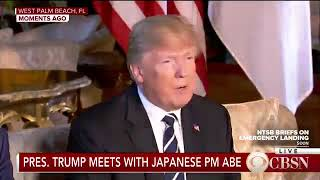 President Trump meets with Japan's prime minister