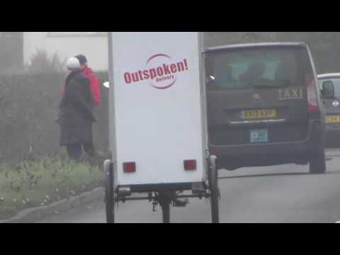 Outspoken deliver van hogs road Cambridge Airport 19Dec16 1219p
