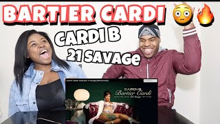Cardi B - Bartier Cardi (feat. 21 Savage) [Official Audio] | REACTION!!!!