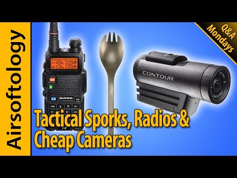 Jonathan's Radio Setup, Affordable Helmet Cameras & Are Tactical Sporks OP? | Airsoftology Mondays