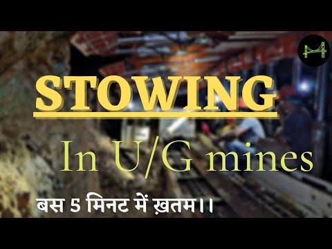 Stowing in UNDERGROUND  Mines ?