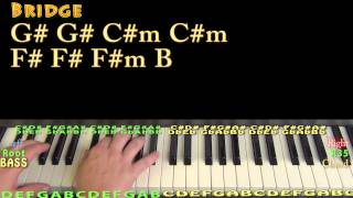 Marvin Gaye (Charlie Puth) Piano Lesson Chord Chart