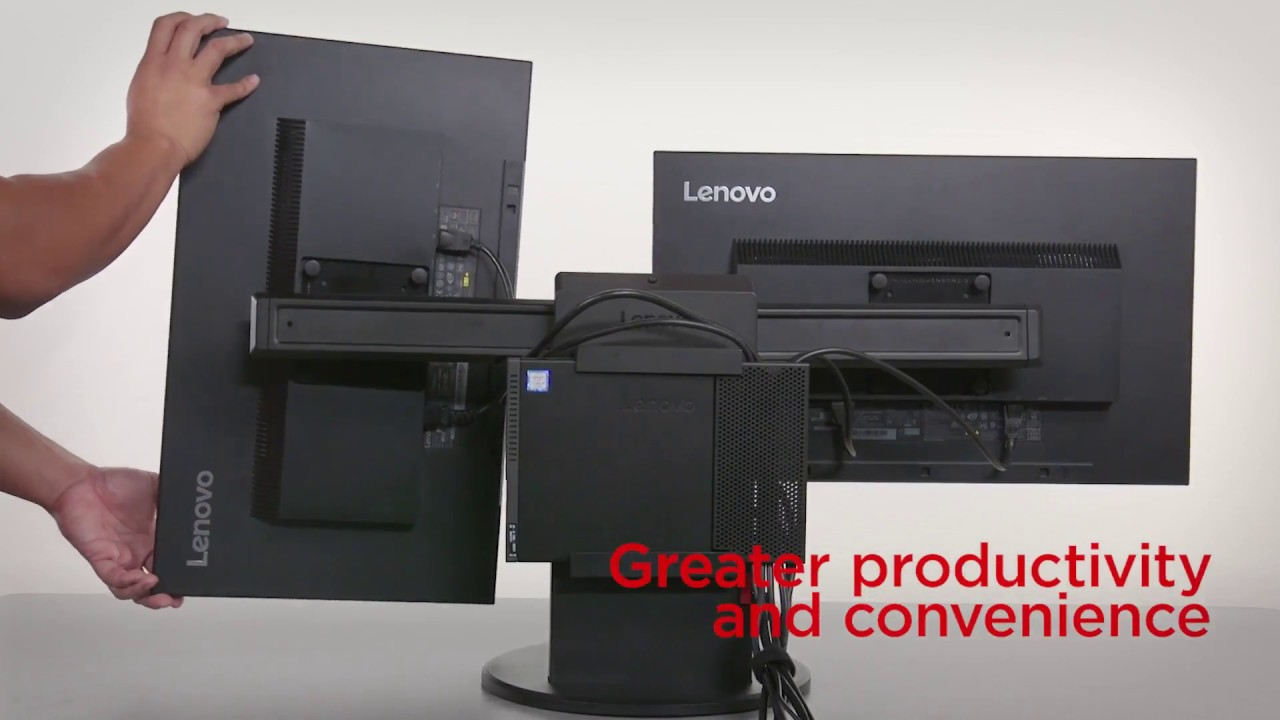 Lenovo Thinkcentre Tiny In One Monitor Stand Product Video