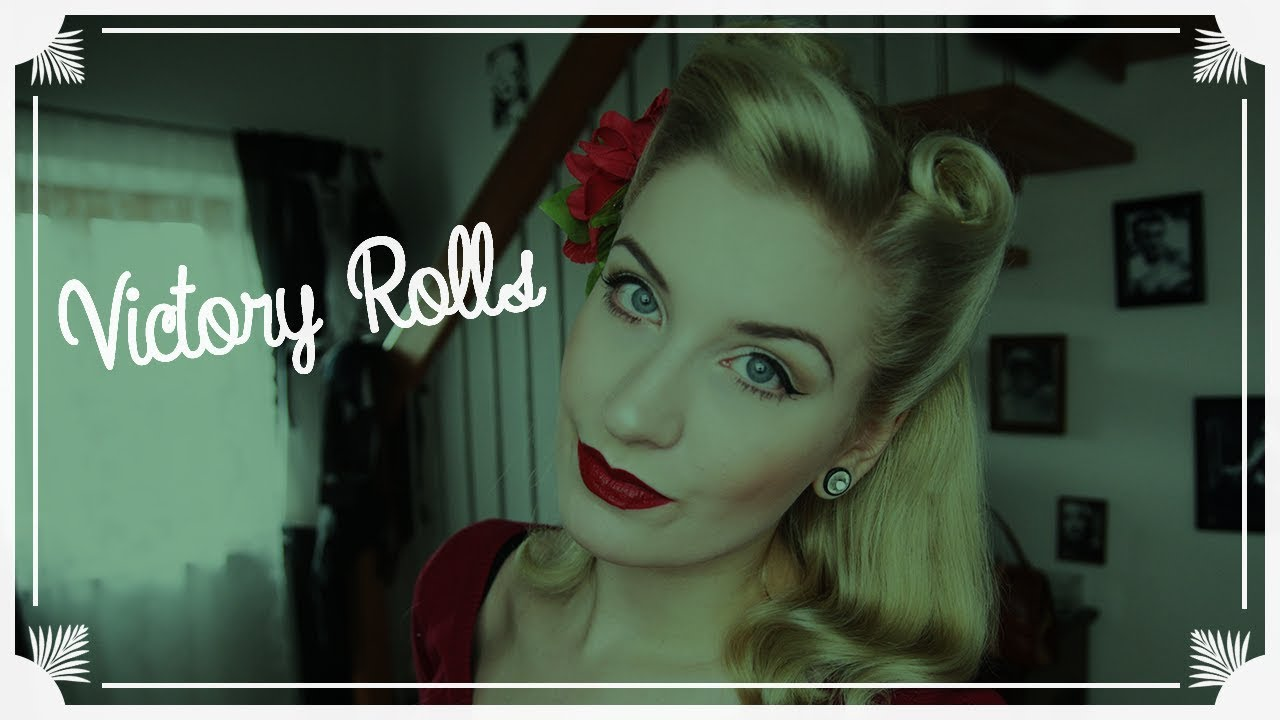 victory rolls hairstyle tutorial / rockabilly anfänger frisur / easy! (english subs)
