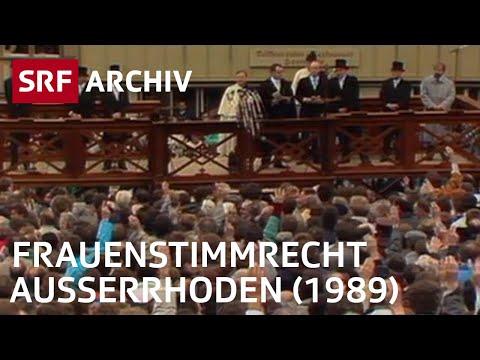 Landsgemeinde und Frauenstimmrecht (1989) | SRF Archiv