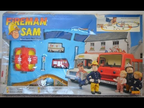 Fireman Sam episode Hornby Train Set Rare Vintage Play Toy Review (HD)