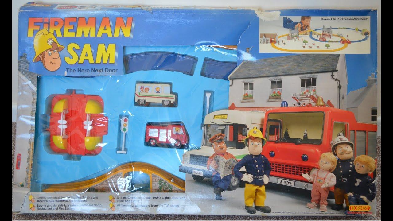 Fireman Sam Episode Hornby Train Set Rare Vintage Play Toy