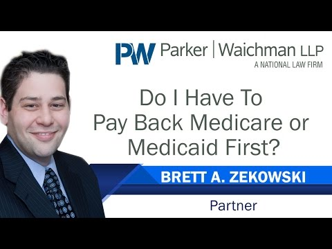 Do I Have To Pay Back Medicare or Medicaid First? – NY Injury Attorney Brett Zekowski explains