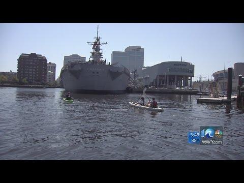 Paddle around the USS Wisconsin with Nauticus