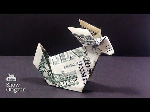 видео: Оригами из денег -  Как сделать кролика из доллара