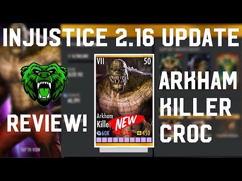 INJUSTICE 2.16~ Arkham Killer Croc All Super Moves & Review!!(iOS/Android)