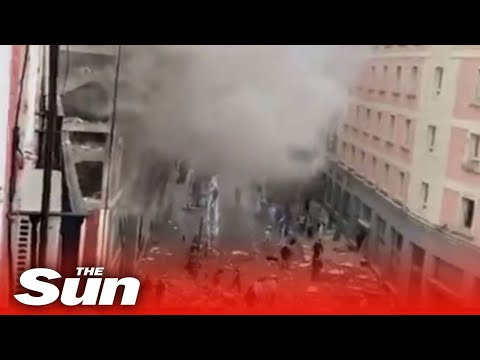 Madrid explosion live: Blast destroys building and sends smoke into air