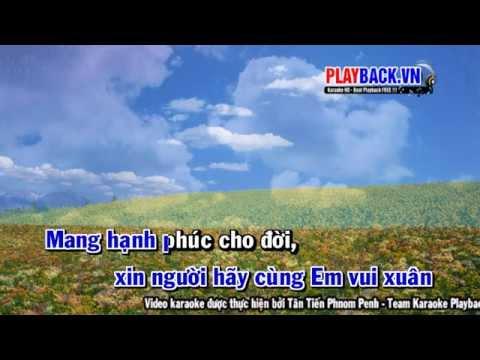 [ Karaoke HD ] Xuân yêu thương Remix - Hồ Quang Hiếu Playback.vn