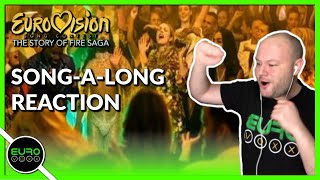REACTION: Eurovision Artists - Song-A-Long (Eurovision - Story Of Fire Saga) | ANDY REACTS!