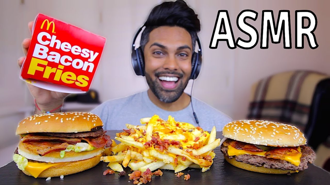 Mcdonalds Cheesy Bacon Fries Bacon Big Mac Asmr