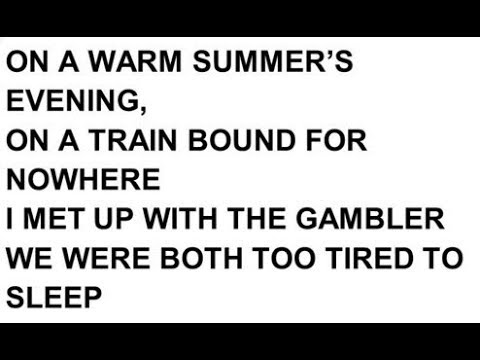 The Gambler, GCD Chords - YouTube