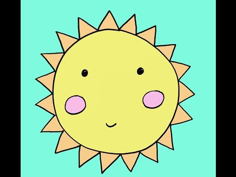 How To Draw Cartoon Sun Step By Step Easy Drawing Tutorial For Kids