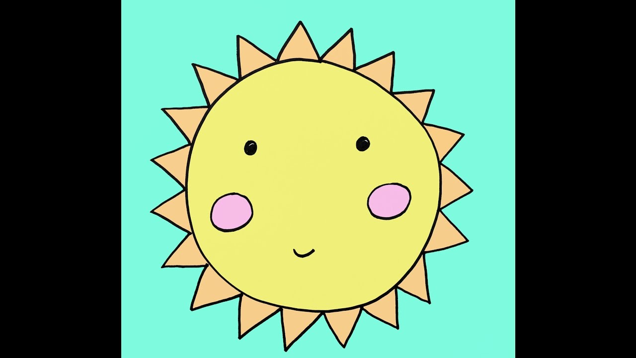 How To Draw A Cartoon Sun Step By Easy Drawing Tutorial For Kids