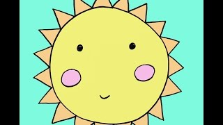 How To Draw A Cartoon Sun Step By Step Easy Drawing Tutorial For Kids