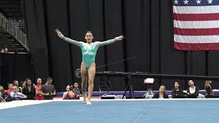 Ciena Alipio – Floor Exercise – 2019 U.S. Gymnastics Championships – Junior Women Day 2