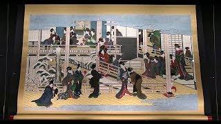 岡田美術館所蔵 喜多川歌麿《深川の雪》