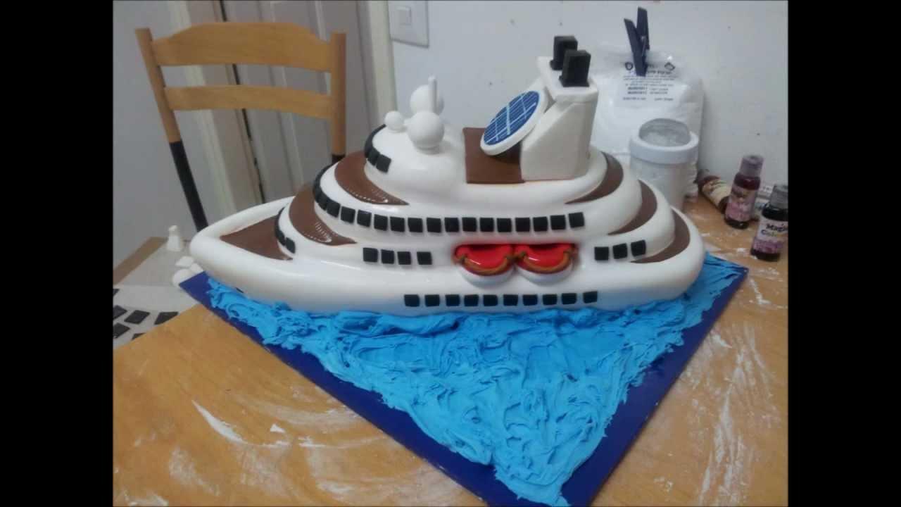 Ship Shaped Birthday Cakes