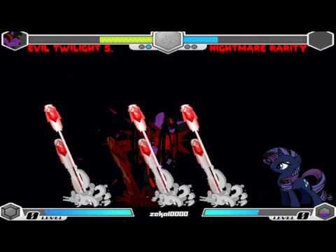 My Little Pony Fighting Is Magic Creepy Dimension Evil Twilight Sparkle Playthrough