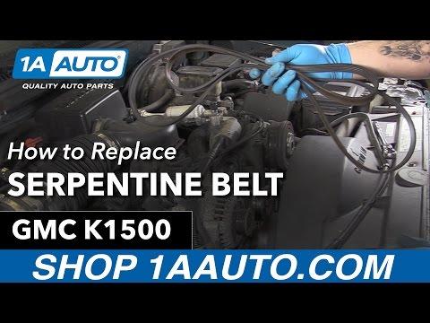 How to Replace Serpentine Belt 90-99 GMC Sierra K1500