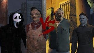 Ghostface & Leatherface VS Jason Voorhees & Michael Myers - Death Battle (GTA 5)