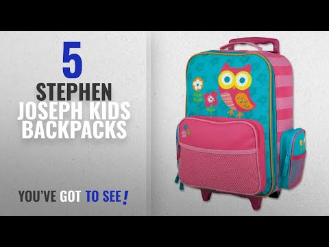 Best Stephen Joseph Kids Backpacks [2018]: Stephen Joseph Classic Rolling Luggage, Owl
