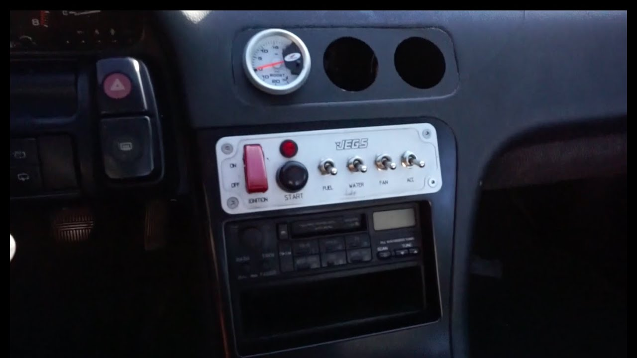 240sx Ignition Switch Panel Install Youtube Push On Wiring Diagram