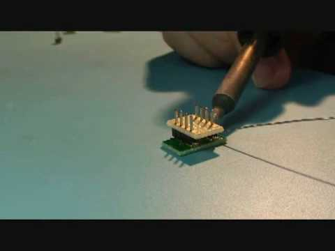 Surface Mount Pin Soldering of SMT to DIP Adapters