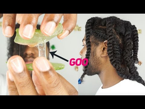 I PUT PLANT GOO IN MY HAIR for $1.98...(aloe vera leaf gel) | vlogmas day 8