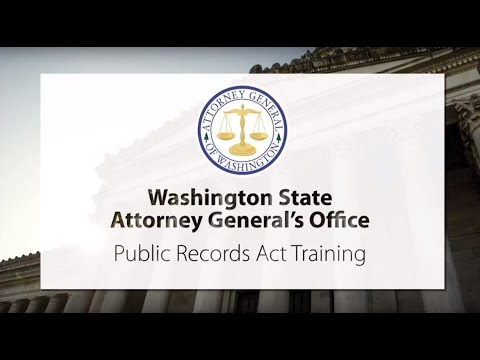 Attorney General's Office Public Records Act Training