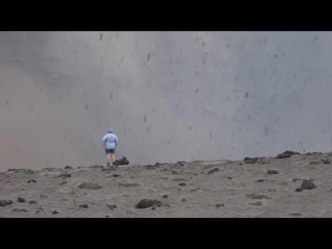 Very Close Volcano Explosion
