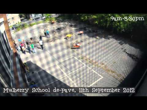 Mulberry School De-paving Timelapse