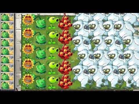 Plants vs. Zombies 2 Mod Gameplay Yeti Attack! vs Primal Walkthrough in PVZ 2 Video