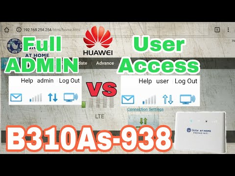 Full ADMIN and USER access for Huawei B310As-938 : Huawei
