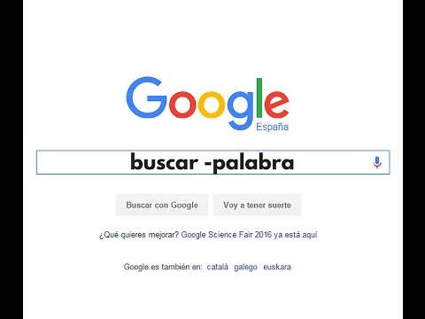 Cómo Buscar en Google evitando una palabra
