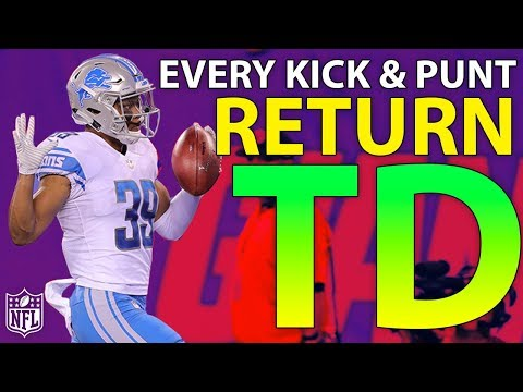 Ranking Every Kick & Punt Return TD of the 2017 Season | NFL Highlights