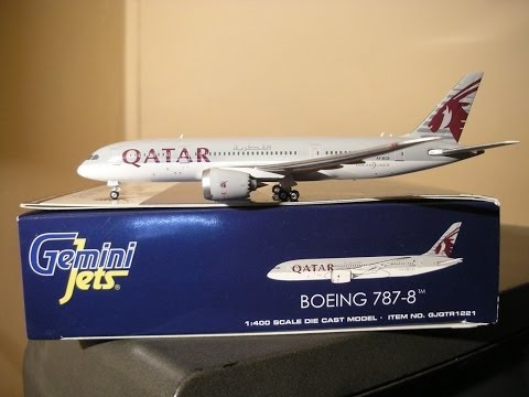 Qatar 787-8 Gemini Jets 1:400 Reg: A7-BCB - Unboxing and Review
