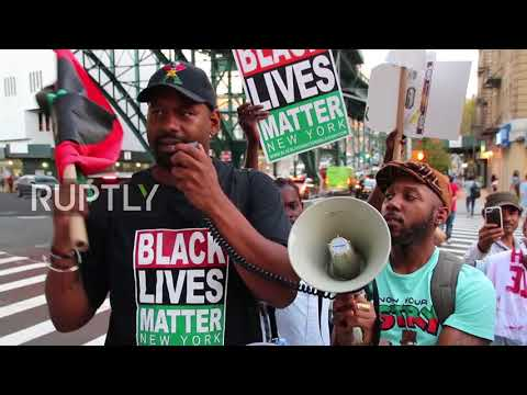 USA: Hundreds protest English Defence League founder's speech at Columbia University