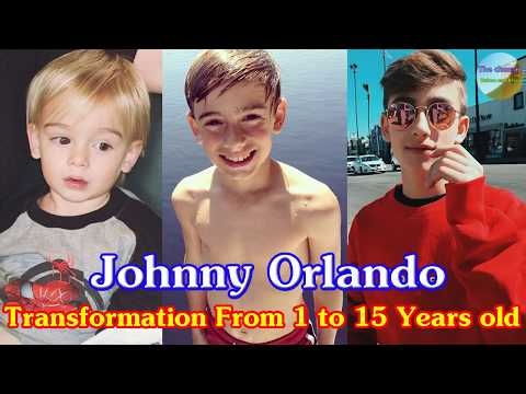 Johnny Orlando transformation from 1 to 15 years old