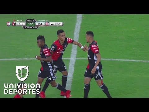 Brillante gol del inglés Ravel Morrison | Atlas vs Toluca