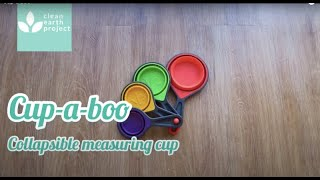 CUP-A-BOO Silicone Collapsible Measuring Cups space saver kitchenware