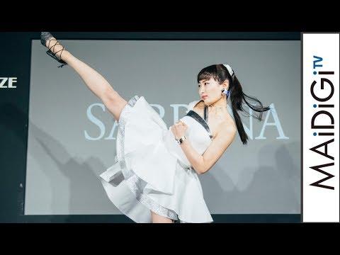 武田梨奈、ミニドレス姿でのハイキックを生披露!畠山愛理は180度開脚 「グンゼ」商品発表会2