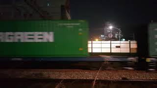 7456호 디젤기관차 삽교발 부산진행 3649 컨테이너…